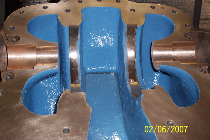12ln 18 Casing after refurbishing and coated with belzona 1341